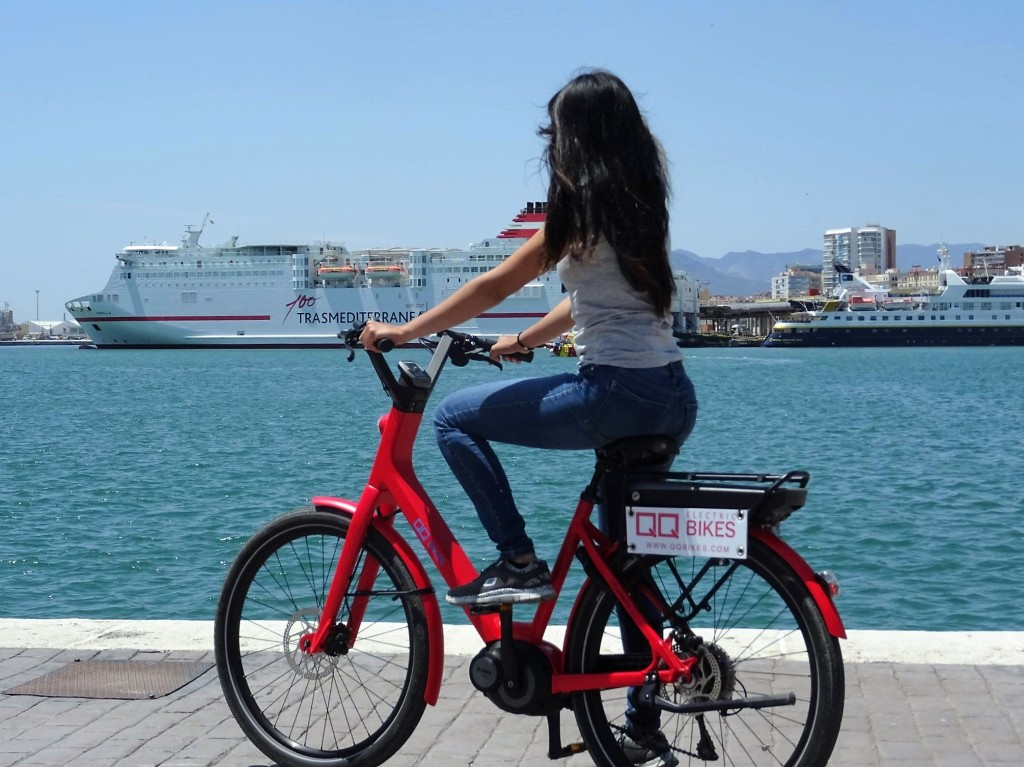 bosch ebike city tour gibralfaro. Black Bedroom Furniture Sets. Home Design Ideas