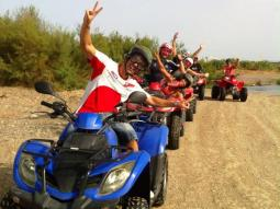 Quads in Malaga: Nature at Guadalhorce River